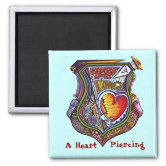 Pierced Heart Square Magnet