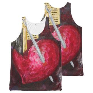 Pierced Heart Unisex Tank