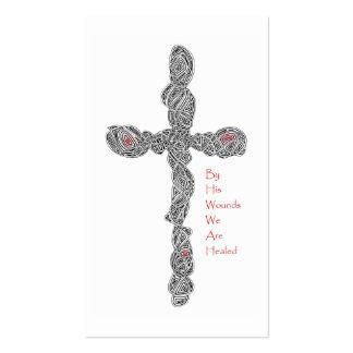 """Pierced"" Isaiah 53:5 Scripture Cards Business Card Templates"
