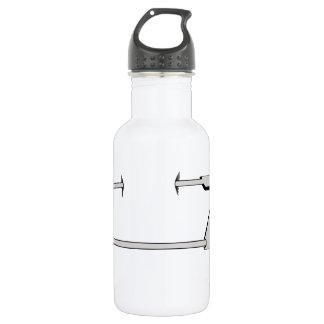 pierced 532 ml water bottle