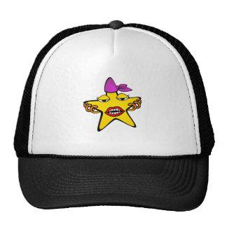 Pierced Star Cartoon Mesh Hat