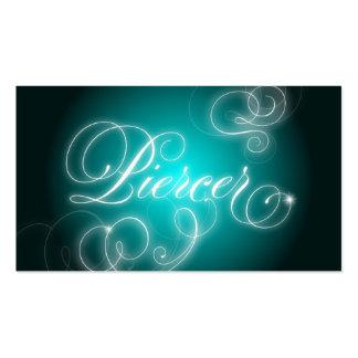 Piercer Business Card Elegant Flourish Glow