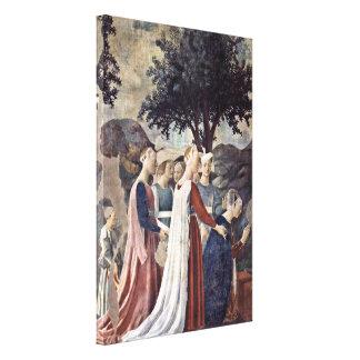 Piero della Francesca - Adoration of the Cross Canvas Print