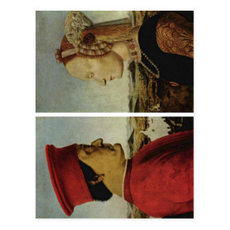 Piero della Francesca Battista Sforza Federico da  Postcard