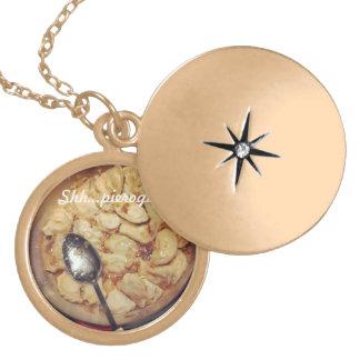 Pierogies locket necklace