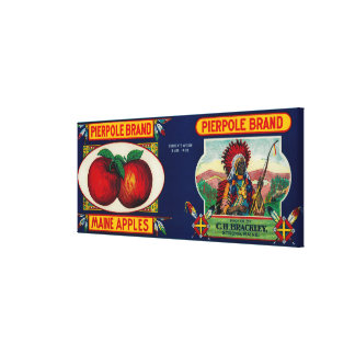 Pierpole Apple LabelStrong, ME Gallery Wrapped Canvas