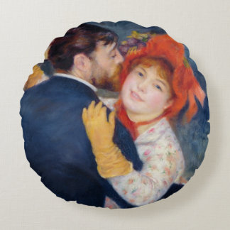 Pierre A Renoir | A Dance in the Country Round Cushion