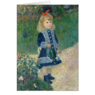 Pierre A Renoir | A Girl with a Watering Can Card