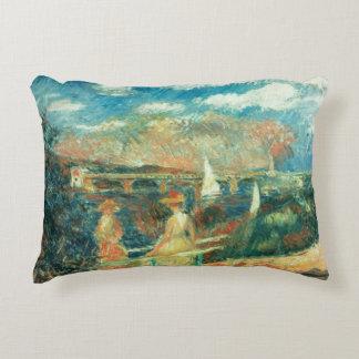 Pierre A Renoir   Banks of the Seine at Argenteuil Decorative Cushion