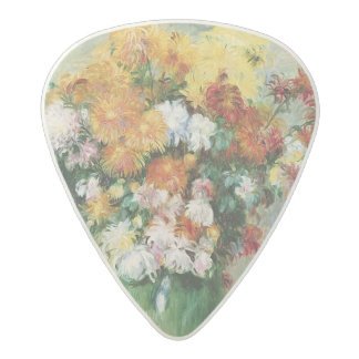 Pierre A Renoir | Bouquet of Chrysanthemums Acetal Guitar Pick
