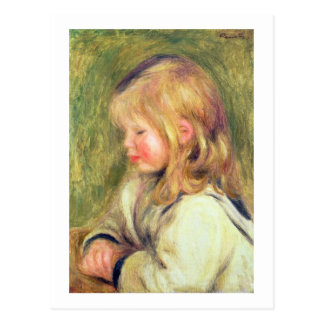 Pierre A Renoir   Child in a White Shirt Reading Postcard