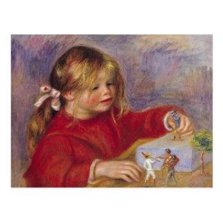 Pierre A Renoir   Claude Renoir at Play Postcard