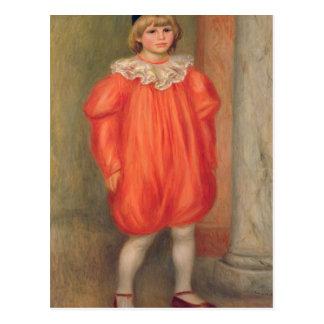 Pierre A Renoir   Claude Renoir in a clown costume Postcard