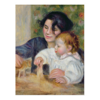 Pierre A Renoir   Gabrielle and Jean Postcard