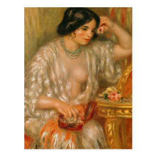 Pierre A Renoir | Gabrielle with Jewellery Postcard