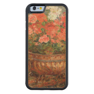 Pierre A Renoir | Geraniums in a Copper Basin Carved Maple iPhone 6 Bumper Case