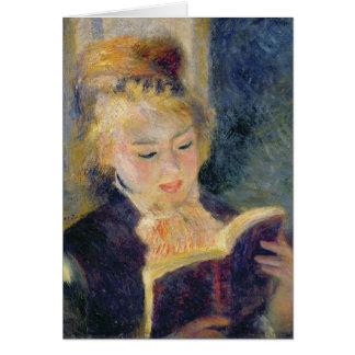 Pierre A Renoir | Girl Reading Card