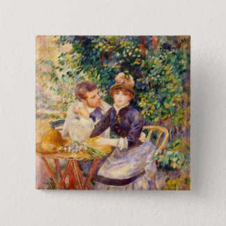 Pierre A Renoir | In the Garden 15 Cm Square Badge