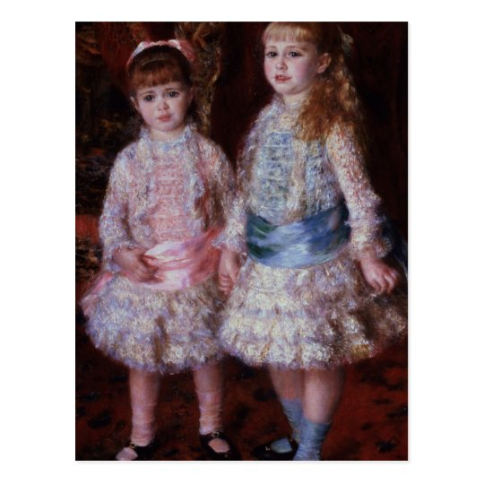 Pierre A Renoir | Pink and Blue Postcard