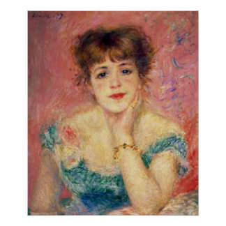Pierre A Renoir | Portrait of Jeanne Samary Poster