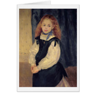 Pierre A Renoir | Portrait of Mademoiselle Legrand Card