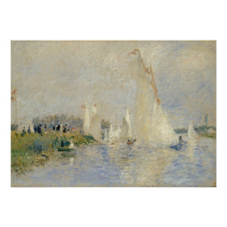 Pierre A Renoir   Regatta at Argenteuil Poster