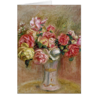 Pierre A Renoir | Roses in a Sevres vase Card