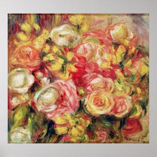 Pierre A Renoir | Roses Poster
