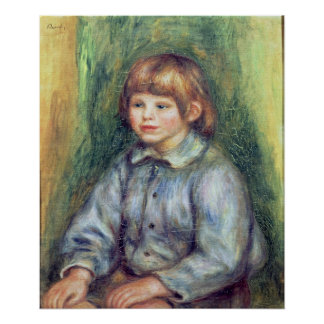 Pierre A Renoir | Seated Portrait of Claude Renoir Poster
