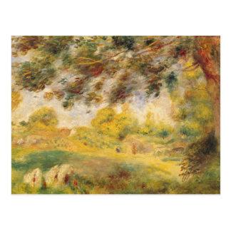 Pierre A Renoir   Spring Landscape Postcard