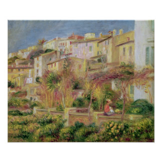 Pierre A Renoir | Terrace in Cagnes Poster