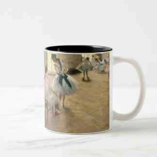 Pierre A Renoir | The Dance Lesson Two-Tone Coffee Mug