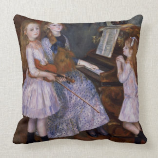 Pierre A Renoir   The Daughters of Catulle Mendes Throw Pillow