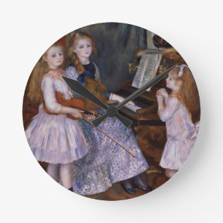 Pierre A Renoir | The Daughters of Catulle Mendes Wall Clocks