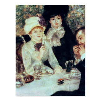 Pierre A Renoir | The End of Luncheon Postcard