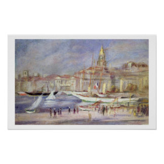 Pierre A Renoir | The Old Port of Marseilles Poster