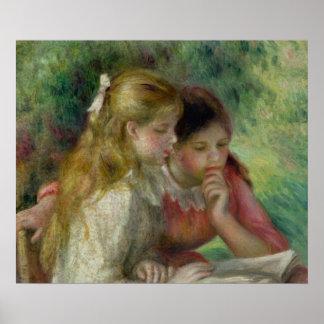 Pierre A Renoir   The Reading, c.1890-95 Poster