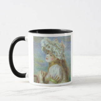 Pierre A Renoir | Young woman in a lace hat Mug
