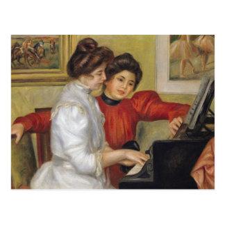 Pierre A Renoir | Yvonne and Christine Lerolle Postcard