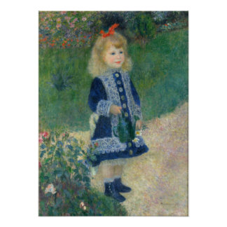 Pierre-Auguste Renoir A Girl with a Watering Can Poster