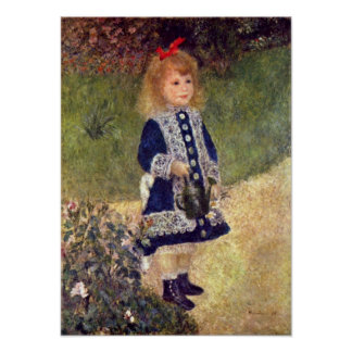 Pierre-Auguste Renoir - Girl with Watering Can Poster