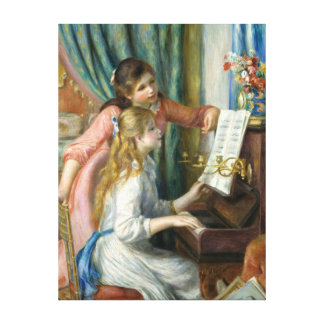 Pierre-Auguste Renoir Girls at the Piano Canvas Print