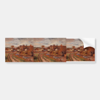 Pierre-Auguste Renoir- Landscape in Normandy Bumper Sticker