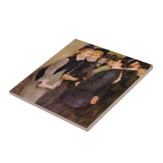 Pierre-Auguste Renoir- Leaving the Conservatoire Tile