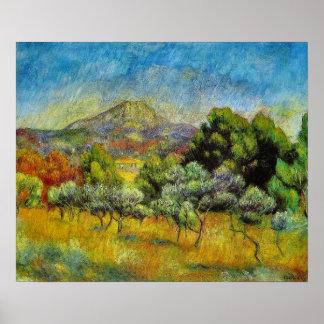 Pierre-Auguste Renoir Montagne Sainte-Victoire Poster