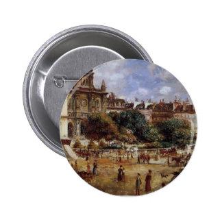 Pierre-Auguste Renoir- Place de la Trinite Pinback Buttons