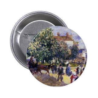 Pierre-Auguste Renoir- Place de la Trinite Pinback Button
