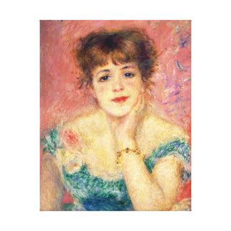 Pierre-Auguste Renoir Portrait of Jeanne Samary Canvas Print