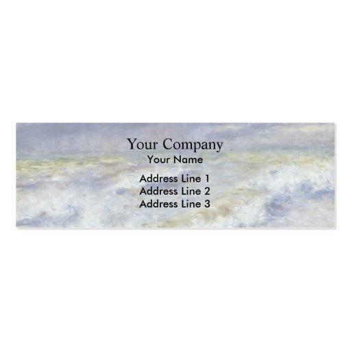 Pierre-Auguste Renoir- Seascape Business Card Template