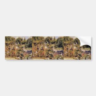 Pierre-Auguste Renoir- The Garden at Fontenay Bumper Sticker